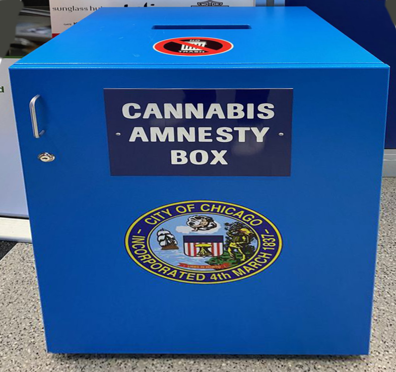 Cannabis Amnesty Box In O'Hare Airport