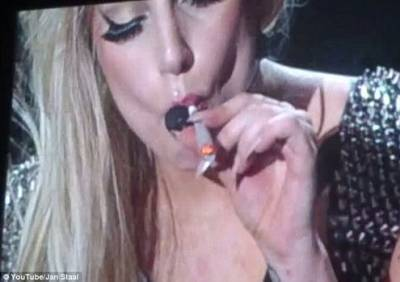Lady Gaga Smokes Joint On Stage