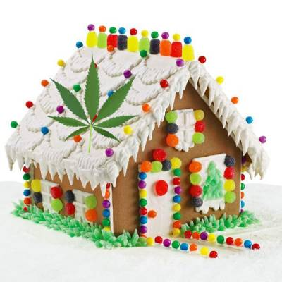Cannabis-Infused Gingerbread House